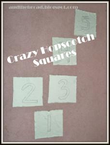 Crazy Hopscotch and Homemade Sewing Cards