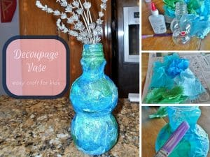 Mother's Day Decoupage Vase