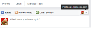 Facebook Share as Page Frustration