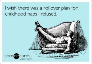 I was tired so I napped…