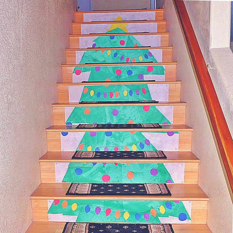 Christmas Tree Stair Riser Decor