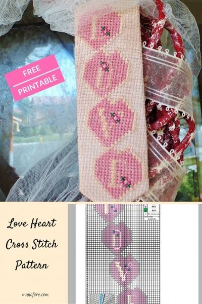 Love Heart Cross StitchPattern