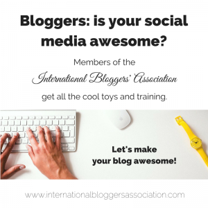 Join the International Bloggers Association to team with bloggers throughout the world in different niches to grow your blog.
