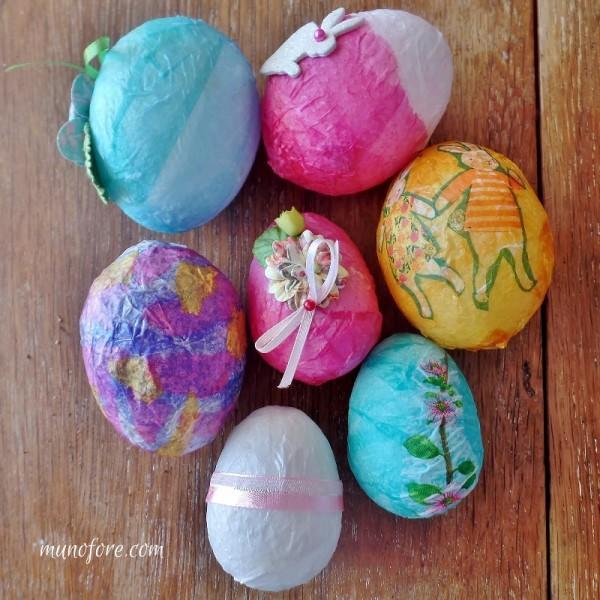 decoupaged easter eggs