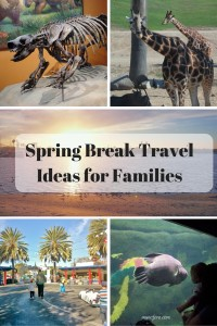 Suggestions for Spring Break Travel locations for those with children, including theme parks, zoos, museums, and more.