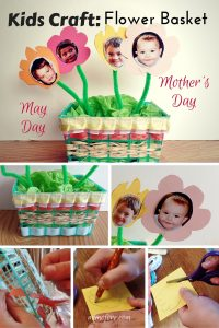 Kids Craft – Strawberry Basket Craft for May