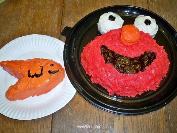 ugly cake - elmo