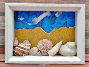Beach Memories Shell Collage