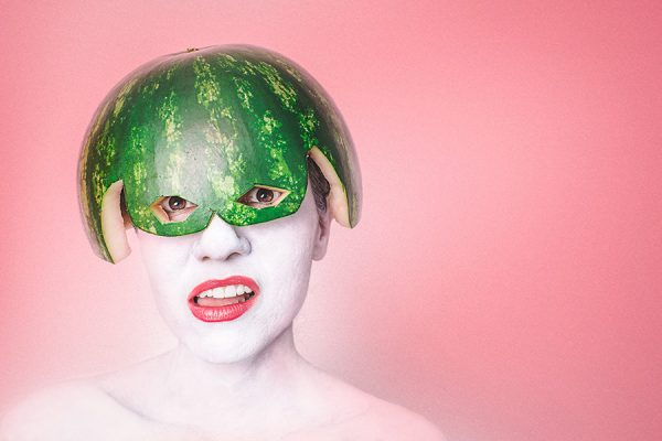 Watermelon Head Woman