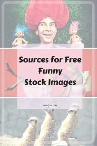 Sources for Free Funny Stock Photos plus Friday Frivolity Blog Party