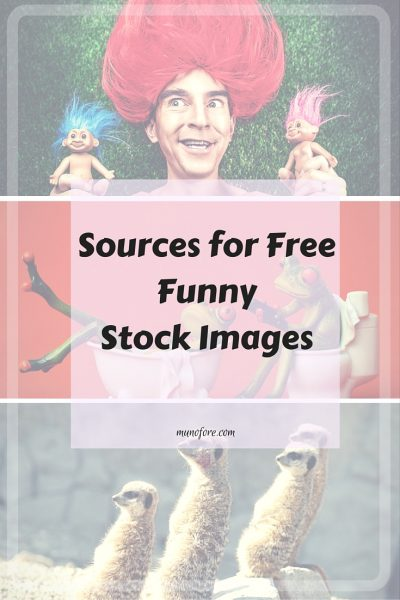 Five Sources for Free Funny Stock Photos and clipart. Great for bloggers and other businesses that need free images.