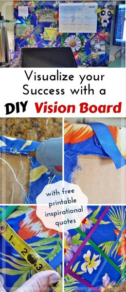 DIY Vision Board: Visualize Your Success. Create your own frugal but beautiful vision board to help you focus on your success.