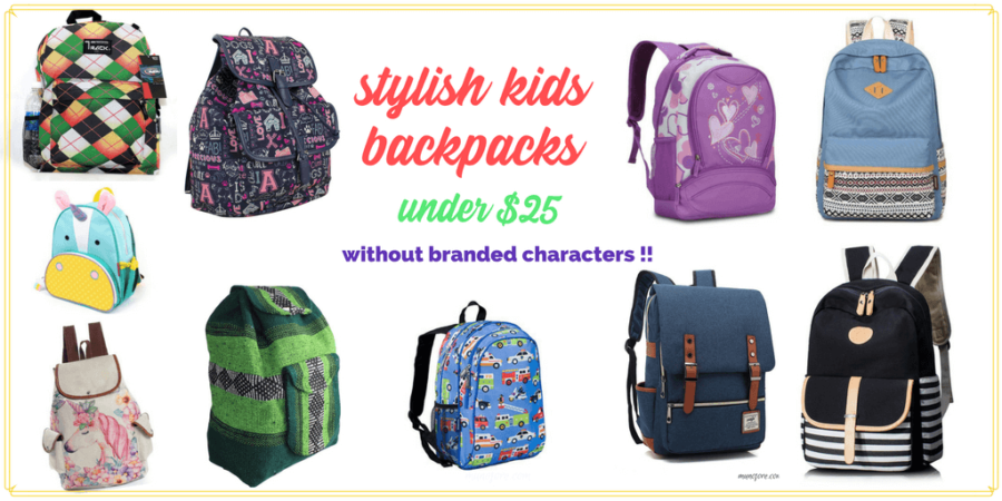 10 Stylish Backpacks for Under $25 without TV and Movie Characters