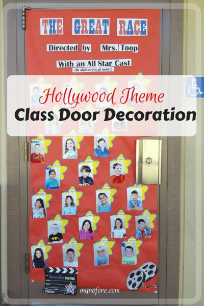 Superbe Hollywood Themed Classroom Door Decoration For Boosterthon Fun Run. Movie  Theme Door Decoration.