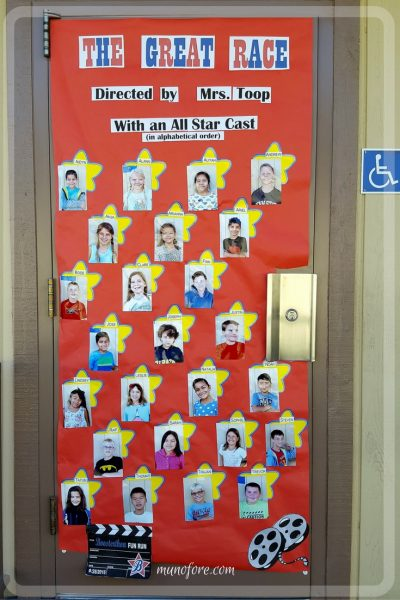 Hollywood Themed Classroom Door Decoration Munofore