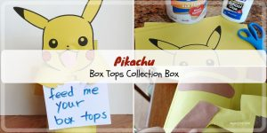 Pikachu Box Top Collection Box for the Classroom