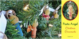 Kids Crafts: Pasta Angel Christmas Ornaments