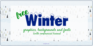 Fun FREE Winter Graphics and Fonts