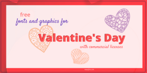 Sweet Free Fonts and Graphics for Valentine's Day