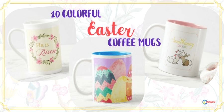 10 Bright and Colorful Easter Coffee Mugs