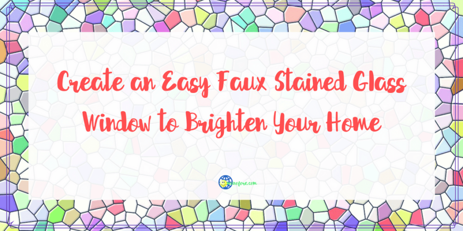 Create an Easy Faux Stained Glass Window to Brighten Your Home
