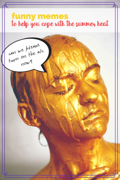 person with gold paint melting on their face