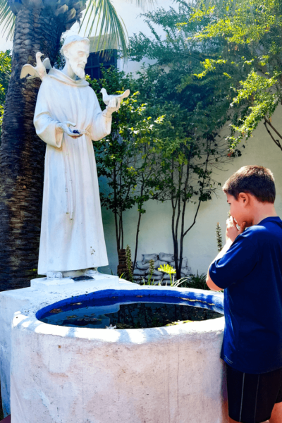 mission san diego statue of st. francis of assisi