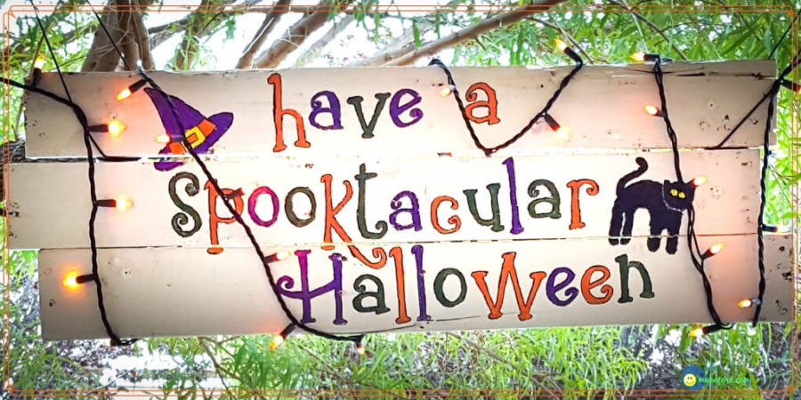 Easy Scrap Wood Halloween Sign Gets You in the Spirit
