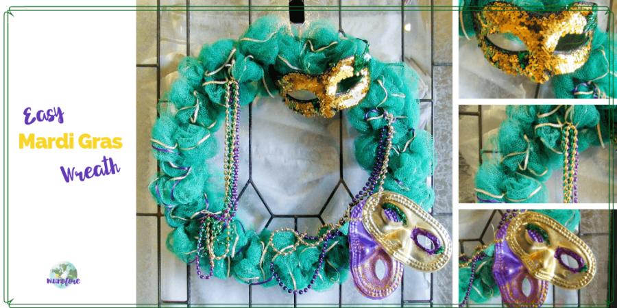 mardi gras wreath collage