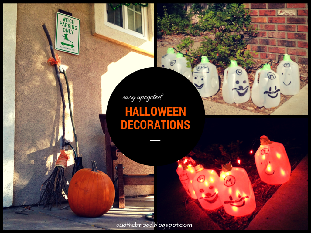 easy upcycled halloween decorations